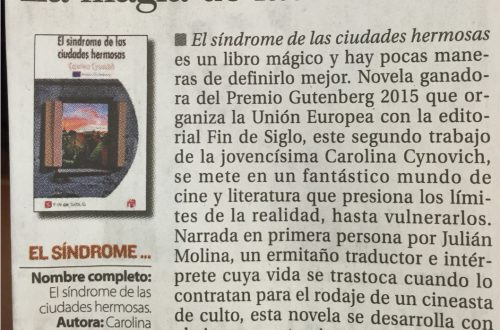Reseña en diario El País, enero 2016